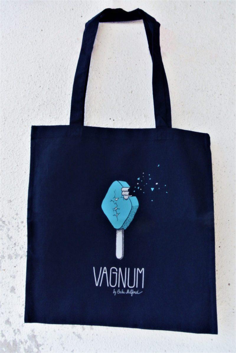 Gabu Milford_tmavě modra platena taska Vagnum_modr