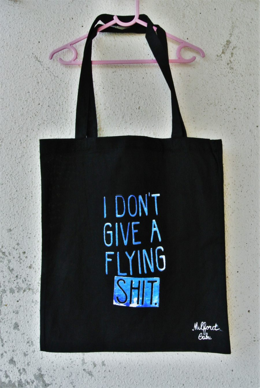 flying_shit_cotton_bag_blue