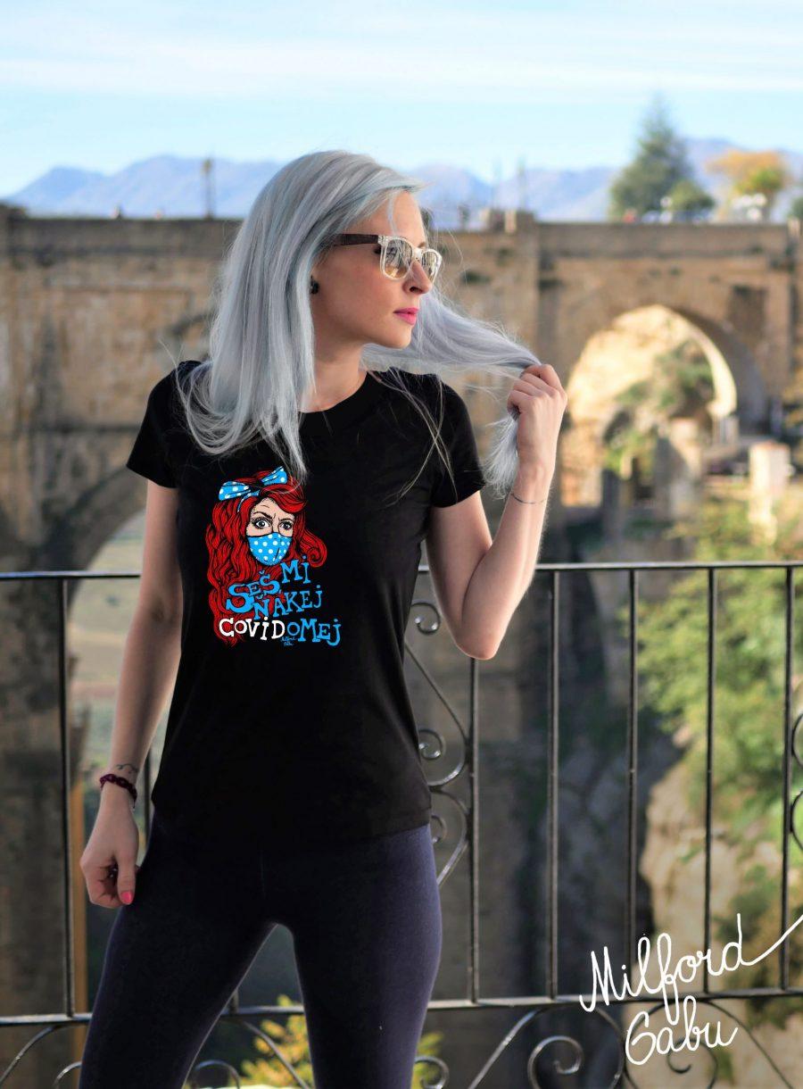 covidomej_cerne damske triko