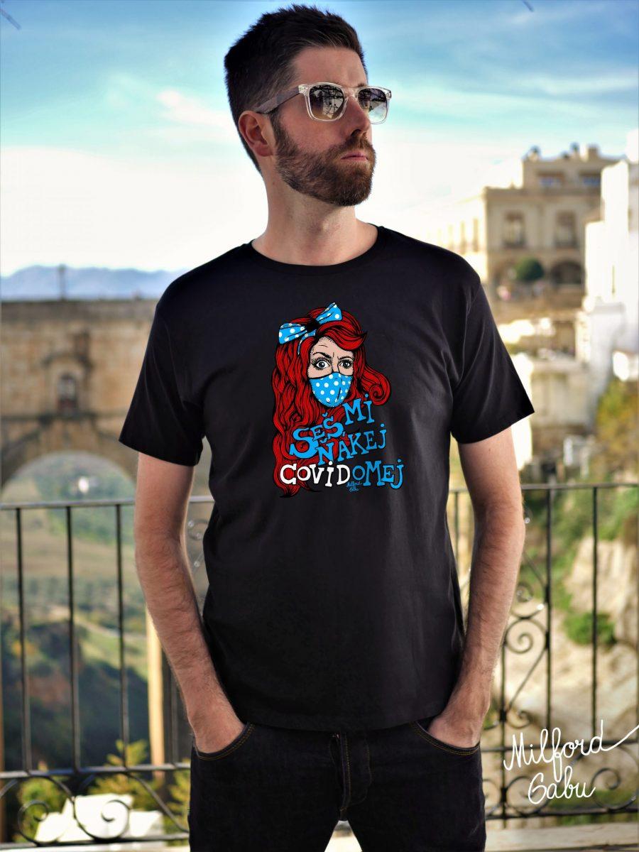 covidomej_cerne panske triko